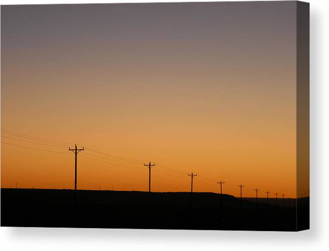 Sunset Canvas Print featuring the photograph Lonesome Road - Wyoming by D'Arcy Evans