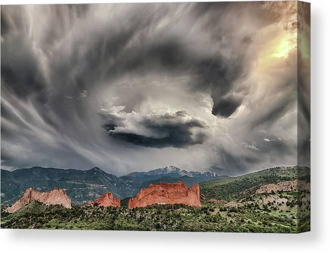 Luis A Ramirez Canvas Print featuring the photograph Look Into The Vortex by Luis A Ramirez