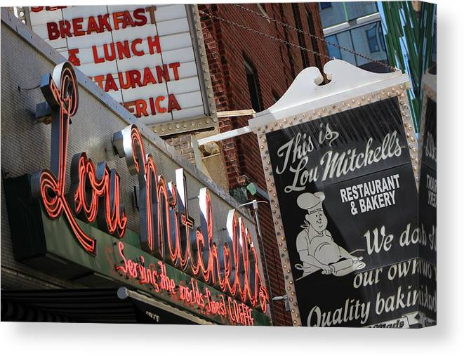 Lou Mitchell's Restaurant And Bakery Chicago Canvas Print