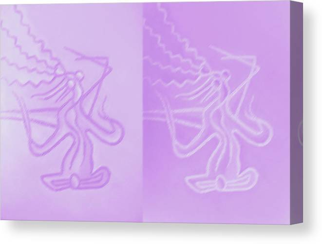 Modern Art Canvas Print featuring the painting Love In Lilac by Monica Smith