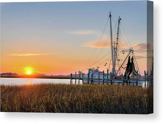 Abandoned Canvas Print featuring the photograph Lowcountry Sunset by Drew Castelhano