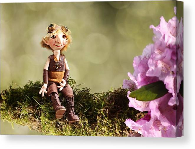 Lumuel Canvas Print featuring the photograph Lumuel In Spring by Heike Hultsch