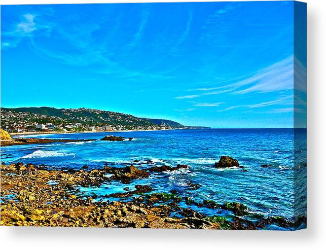 Laguna Beach Canvas Print featuring the photograph Main Beach Laguna by Jeremy Stewart
