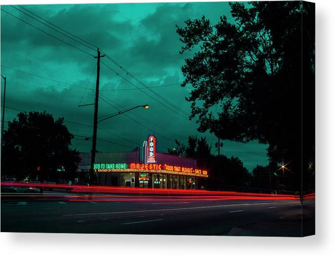 Atlanta Canvas Print featuring the photograph Majestic Cafe by Kenny Thomas
