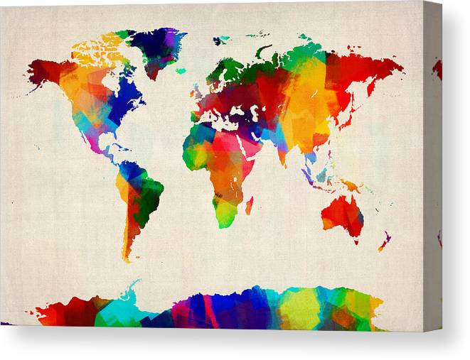Map Of The World Map Canvas Print