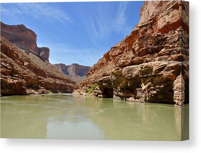 Marble Canyon Canvas Print featuring the photograph Marble Canyon by Barbara Stellwagen