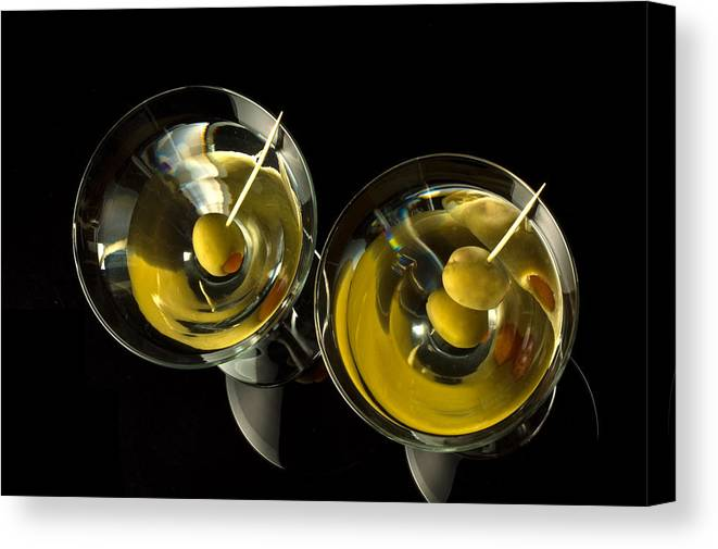 Martini Canvas Print featuring the photograph Martinis For Two by David Thompson