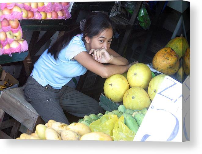 Photographer Canvas Print featuring the photograph Melon Girl by Jez C Self
