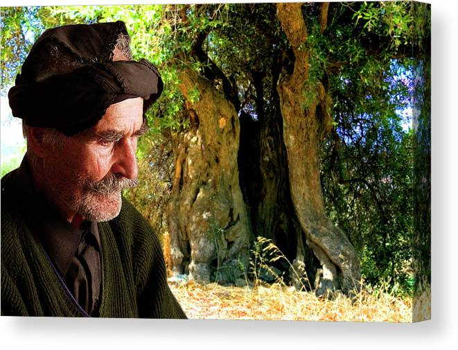 Old Man Canvas Print featuring the photograph Memories Of Time by Manolis Tsantakis