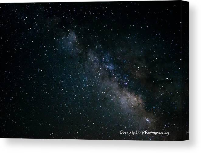 Stars Galaxy Canvas Print featuring the photograph Milky Way by Ronald Grutter
