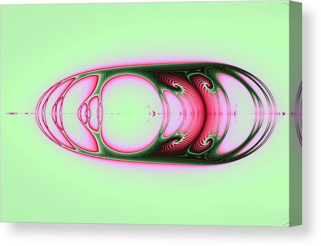 Abstract Canvas Print featuring the digital art Mirrored by Mark Eggleston