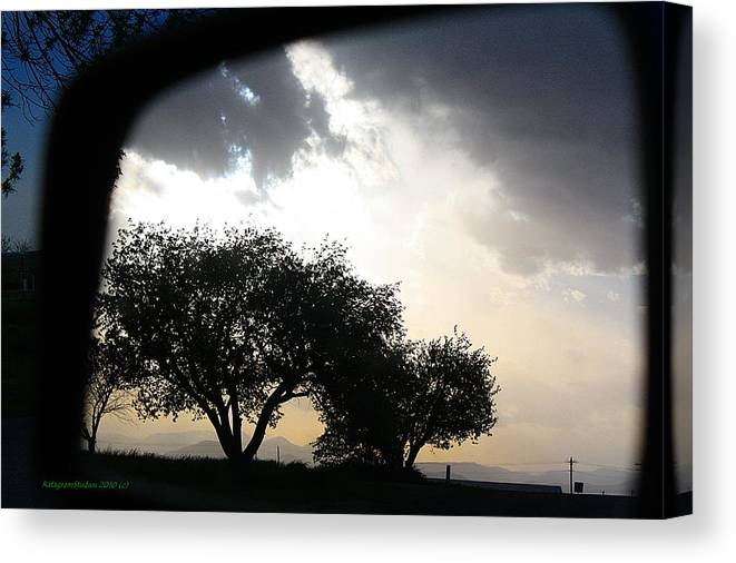 Reflection Canvas Print featuring the photograph Mirrored Sunset by KatagramStudios Photography