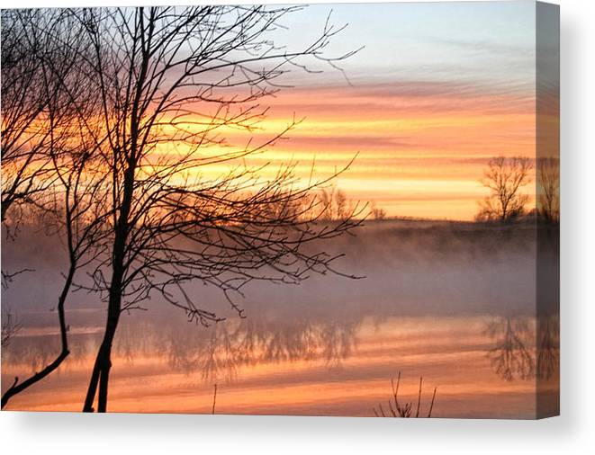 Mist Canvas Print featuring the photograph Misty Morning by Laurie Prentice