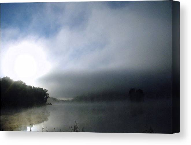 Landscapes Canvas Print featuring the photograph Morning Mist Over Eastview by Turhan Von Brandon