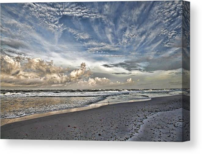 Longboat Key Florida Canvas Print featuring the photograph Morning Sky At The Beach by HH Photography of Florida