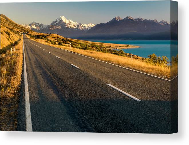 Lake Canvas Print featuring the photograph Mount Cook Road by Martin Capek