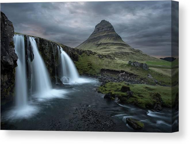 Mount Kirkjufell Iceland Canvas Print featuring the photograph Mount Kirkjufell Iceland by Nicholas Palmieri