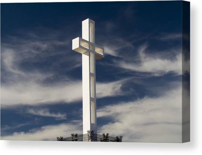 Mt. Soledad Veterans Memorial Canvas Print featuring the photograph Mt. Soledad Veterans Memorial by Christopher Woods