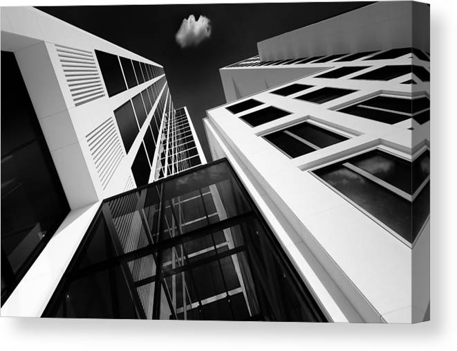 Architecture Canvas Print featuring the photograph My Own Cloud - Iv by Tommi