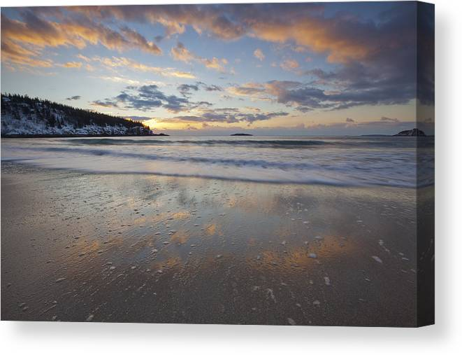 New Year's Canvas Print featuring the photograph New Year's Morning On Sand Beach by Scott Bryson