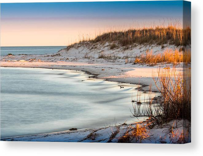 Beach Canvas Print featuring the photograph No Footsteps In The Sand #101 by Larry Palmer