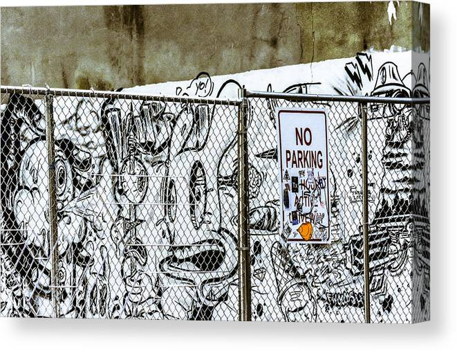 New York Canvas Print featuring the digital art No Parking by Jen Pezzo
