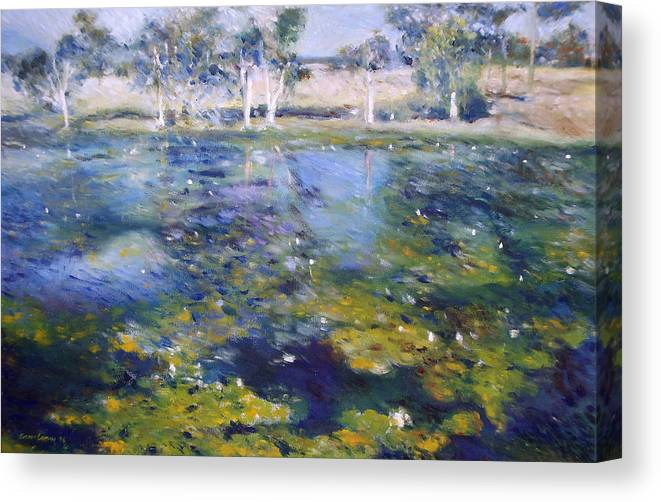 Northern Rivers Canvas Print featuring the painting Northern New South Wales Australia 1995 by Enver Larney