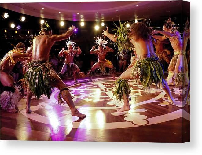 Nuku Hiva Canvas Print featuring the photograph Nuku Hiva Dancers by David Smith