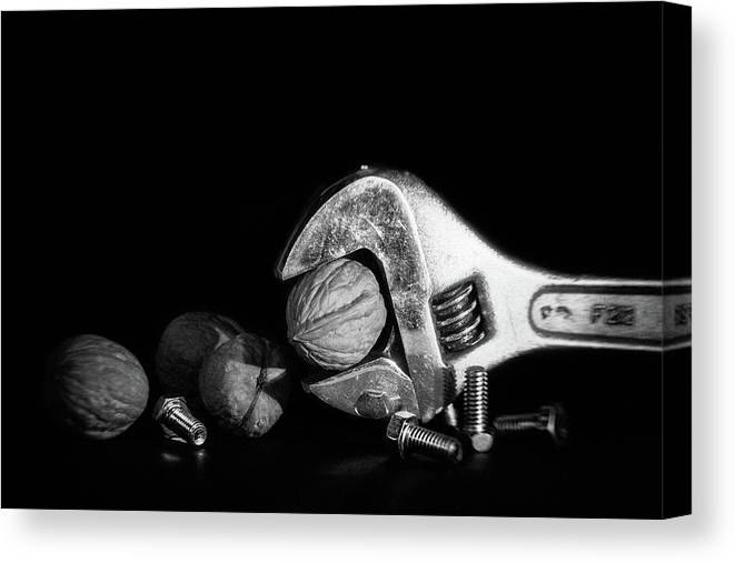 Bolt Canvas Print featuring the photograph Nuts And Bolts by Tom Mc Nemar