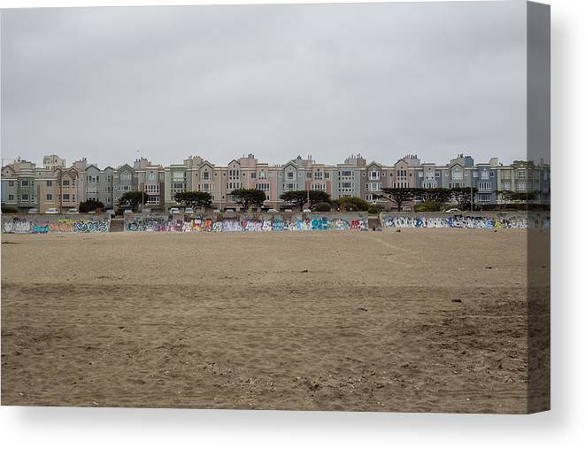 Beach Canvas Print featuring the photograph Ocean Beach Houses by Ashlyn Gehrett