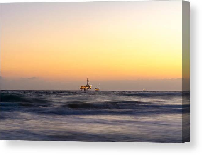 Huntington Beach Canvas Print featuring the photograph Ocean Blur by Alex Nicolson