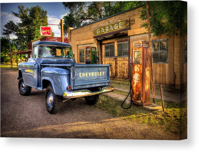 Chevrolet Canvas Print featuring the photograph Ol Chevrolet by Ryan Smith