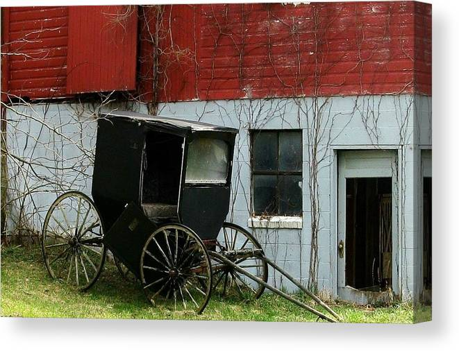 Barns Canvas Print featuring the photograph Old Buggy by Joyce Kimble Smith