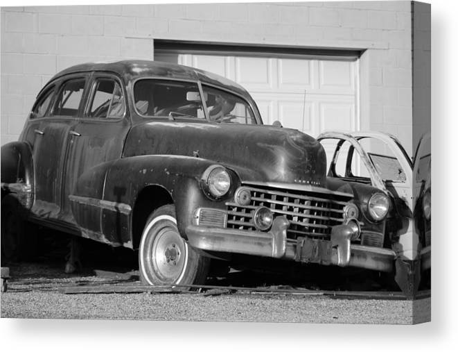 Old Cadillac Canvas Print featuring the photograph Old Cadillac by Colleen Cornelius