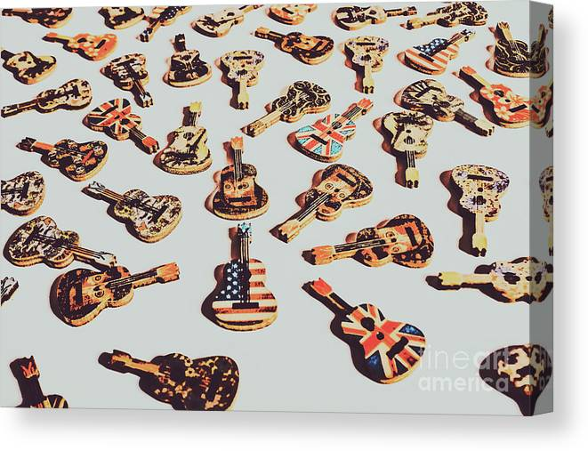 Rock Canvas Print featuring the photograph Old Days Of Rock N Roll by Jorgo Photography - Wall Art Gallery
