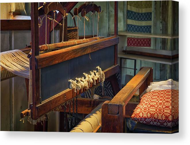 2017 Canvas Print featuring the photograph Old Loom by Mindy Randall