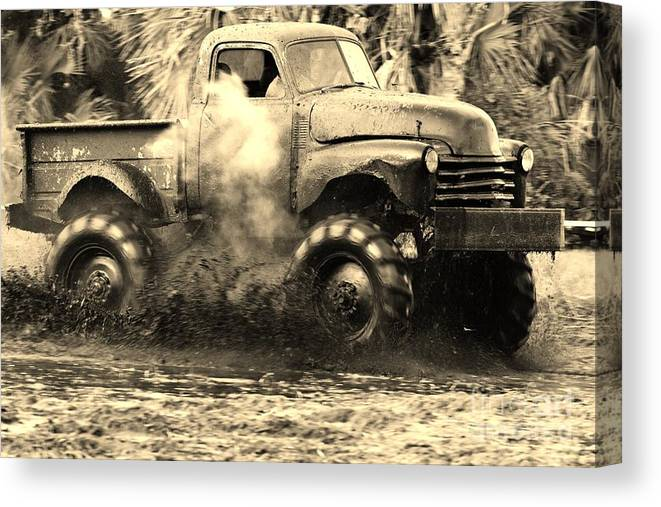 Truck Canvas Print featuring the photograph Old School 3 by Lynda Dawson-Youngclaus