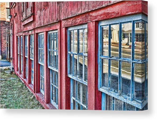Collinsville Ct Canvas Print featuring the photograph Old Windows by Edward Sobuta