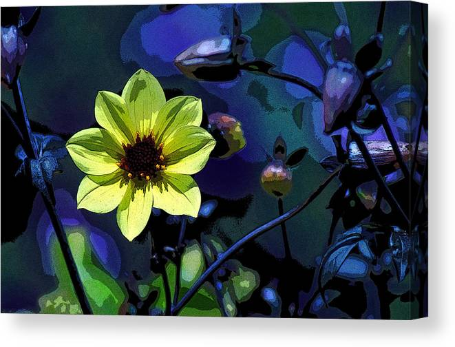 Flower Canvas Print featuring the digital art One Good Deed by J DeVereS