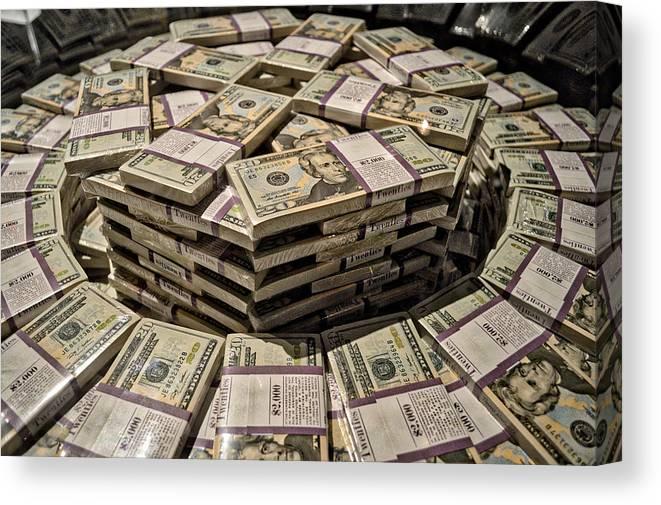 One Million Dollars In Twentys Canvas Print