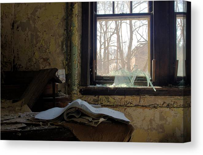 Abandonment Canvas Print featuring the photograph Opened by Kevin Brett