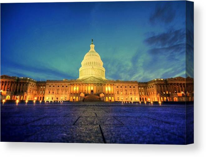 Congress Canvas Print featuring the photograph Opinions And Perspectives by Mitch Cat