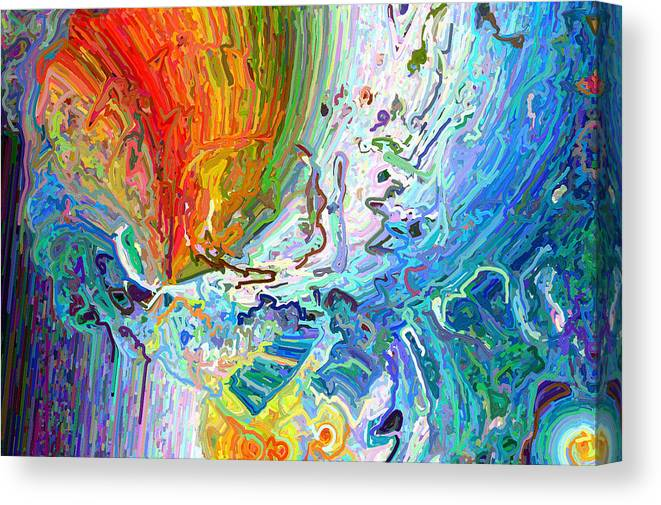 Modern Canvas Print featuring the digital art Out Of The Mouth by Paul Gavin