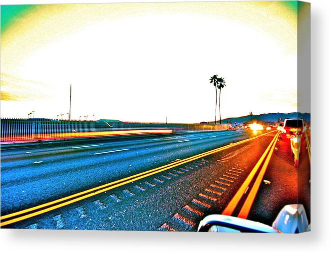 Pch Canvas Print featuring the photograph Pacific Coast Highway by Jeremy Stewart