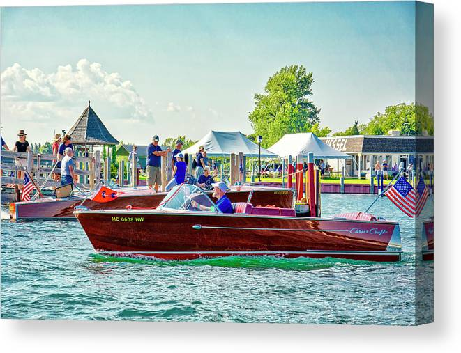 Mertaugh Canvas Print featuring the photograph Parade Of Boats 41 by Rick Jackson