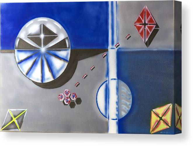 Tech Canvas Print featuring the photograph Partical Emitter by Ronald Watkins