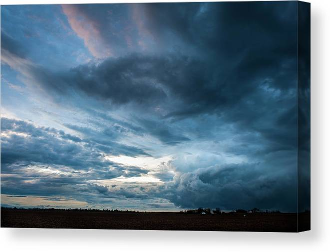 Storm Canvas Print featuring the photograph Passing Storm by David Jilek