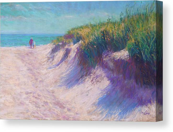 Pastel Canvas Print featuring the pastel Past The Dunes by Michael Camp
