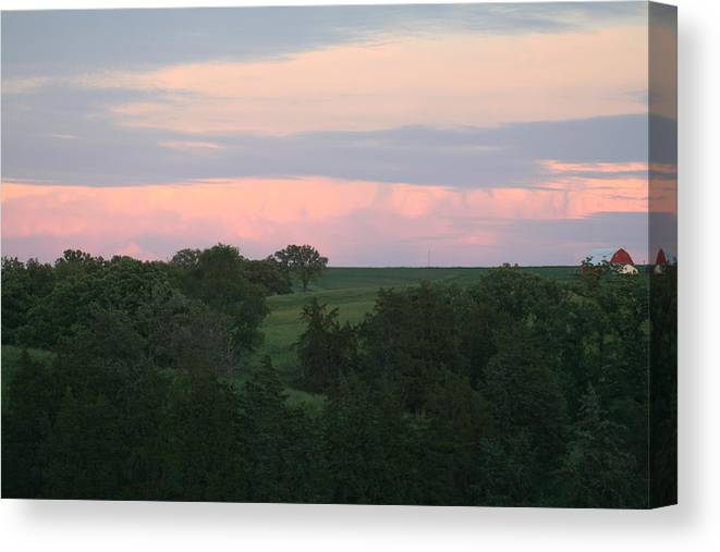 Such Beautiful Colors Canvas Print featuring the photograph Pasture Scene by Linda Ostby