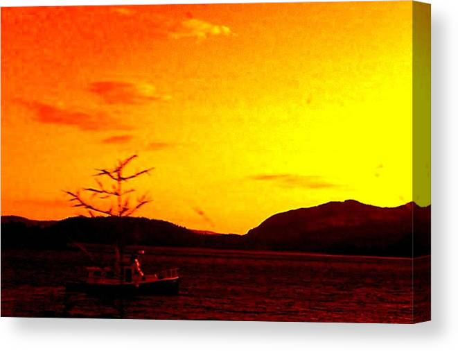 Sky Canvas Print featuring the photograph Peaceful by Allison Prior